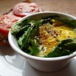Individual Egg and Spinach Bakes