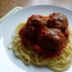 Italian Meatballs with Linguine and Ricotta