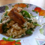 Spinach and Mackerel Risotto