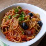 Tomato, Olive and Parsley Pasta