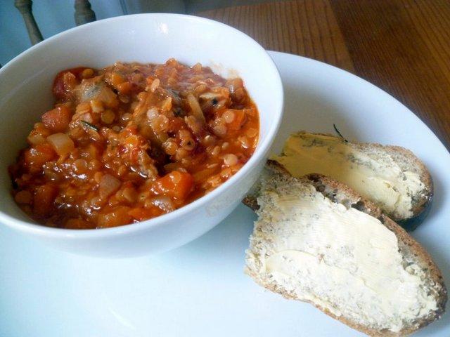 Sausage Lentil Casserole