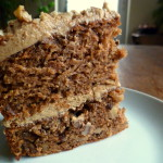 Apple and Walnut Cake with Black Treacle Icing