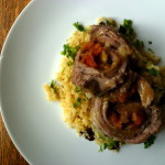 Apricot Stuffed Lamb with Bulgur Wheat Salad