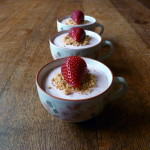 'De-constructed' Strawberry Cheesecakes