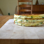 Potato, Pea and Mint Quesadillas