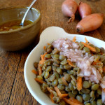 Green Lentil and Carrot Salad with Shallot Vinaigrette