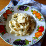 Homemade Tagliatelle with a Lemon and Thyme Dressing