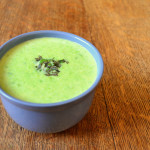 Creamy Garden Pea and Mint Soup