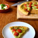 Pesto, Tomato and Mozzarella Pizza