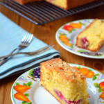 Raspberry, Orange and Almond Traybake