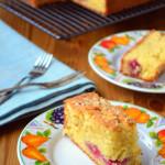 Raspberry, Orange and Almond Traybake
