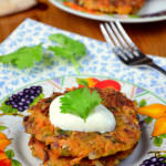 Carrot and Coriander Fritters
