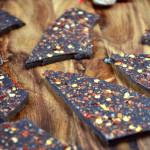Chilli and Nutmeg Dark Chocolate Bark
