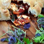 Red Onion and Goat's Cheese Calzone