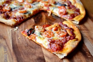 Chorizo and Cheddar Pizza