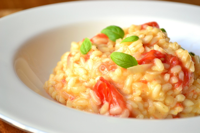 Tomato and Basil Risotto - frugal feeding