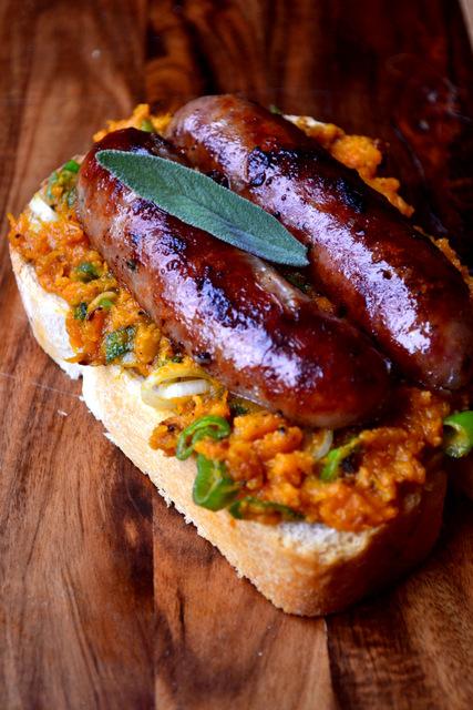 Butternut Squash and Sage Sausage Sandwich