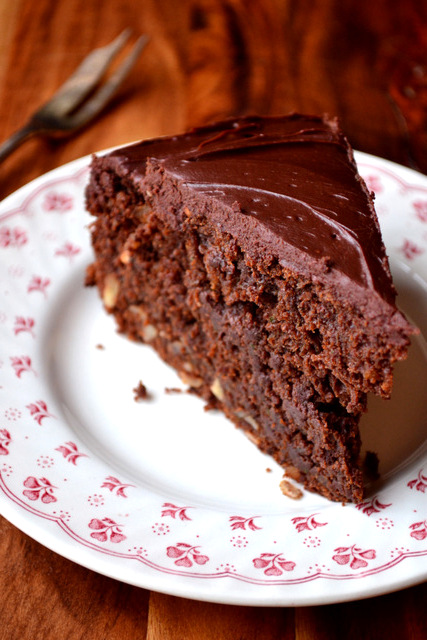 Chocolate Courgette Cake Made With Oil