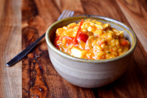 Red Pepper and Goats Cheese Risotto