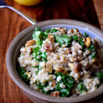 Kale, Walnut and Lemon Pearl Barley Risotto