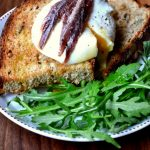 Poached Eggs with Anchovies