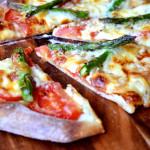 Asparagus and Mozzarella Pizza
