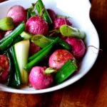 Roasted Radish and Spring Onion Salad