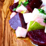 Beetroot, Pear & Goats Cheese Salad