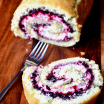 Blackberry and Basil Swiss Roll