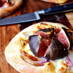 Individual Fig and Goats Cheese Pizzas