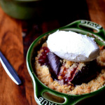 Fig and Pear Crumbles