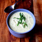 Jerusalem Artichoke and Spinach Soup