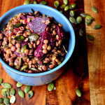 Brown Lentil and Beetroot Salad